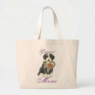 Grand Tote Bag Maman de coeur de Beardie