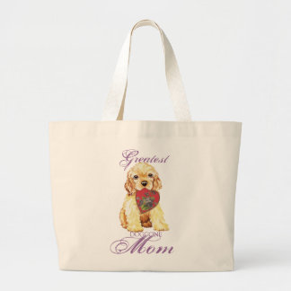 Grand Tote Bag Maman de coeur de cocker