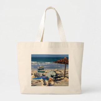 Grand Tote Bag Manfred le lamantin à la plage