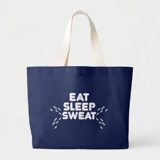 Grand Tote Bag mangez le sommeil sué - des sports drôles