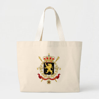 Grand Tote Bag Manteau d'emblème de la Belgique des bras -