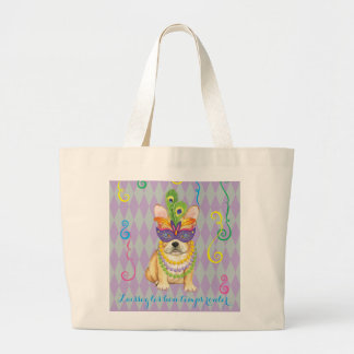 Grand Tote Bag Mardi gras Frenchie