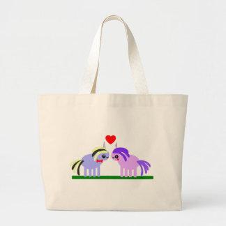 Grand Tote Bag Mariage mignon et d'amusement de licorne