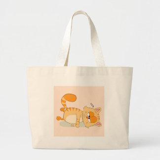 Grand Tote Bag Même le chat déteste lundi