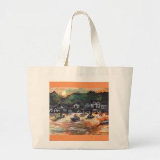 Grand Tote Bag Mettre-n-Baie peignant #3