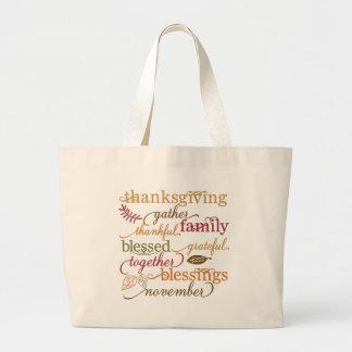 Grand Tote Bag Mignon superbe de fourre-tout de thanksgiving