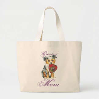Grand Tote Bag Mini maman américaine de coeur de berger
