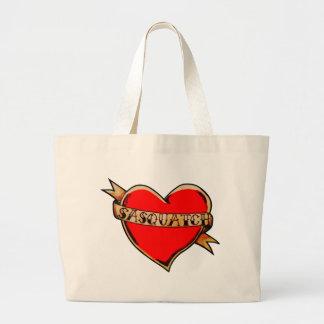 Grand Tote Bag Mon coeur appartient au sasquatch