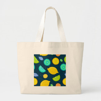 Grand Tote Bag Motif de citron