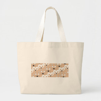 Grand Tote Bag Motif Tan de chat et de souris
