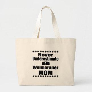 Grand Tote Bag Ne sous-estimez jamais la maman de Weimaraner