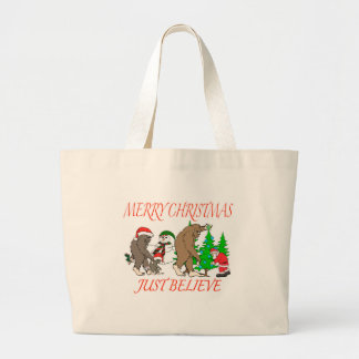 Grand Tote Bag Noël 2 de famille de Bigfoot