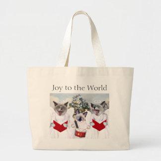 Grand Tote Bag Noël Fourre-tout de Carol de chaton