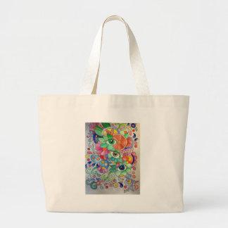 Grand Tote Bag Oeils en couleur