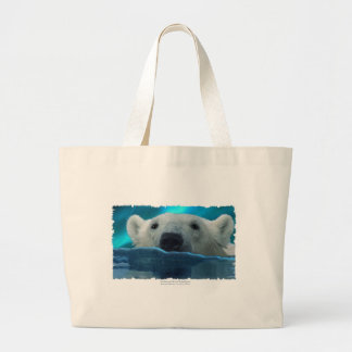 GRAND TOTE BAG OURS BLANC DE NATATION