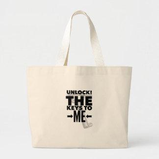 Grand Tote Bag Ouvrez ! J'habillement et articles par une vie de