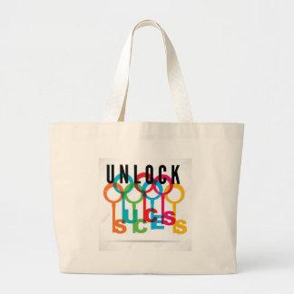 Grand Tote Bag OUVREZ ! Votre toile de clés