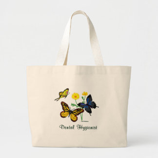 Grand Tote Bag Papillons d'hygiéniste dentaire