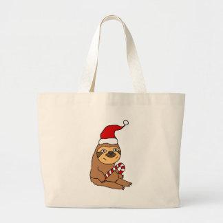 Grand Tote Bag Paresse mignonne dans la bande dessinée de Noël de