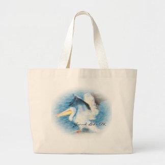 Grand Tote Bag pélican 17 fourre-tout d'aquarelle
