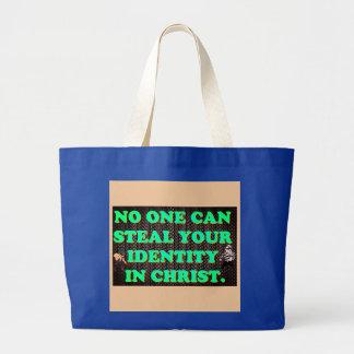 Grand Tote Bag Personne peut voler votre identité en Christ