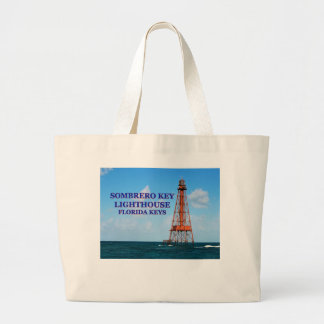 Grand Tote Bag Phare principal de sombrero, clés de la Floride
