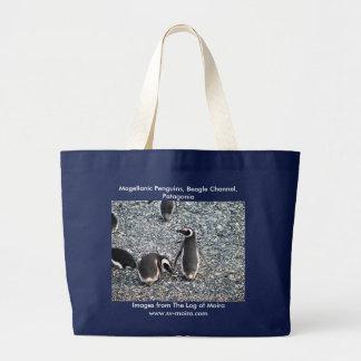 Grand Tote Bag Pingouins de Magellanic, la Manche de beagle,