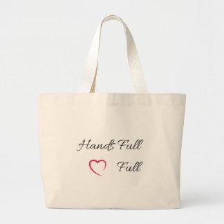 Grand Tote Bag Plein coeur plein Fourre-tout de mains