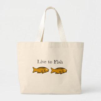 Grand Tote Bag poissons nageant