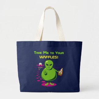 Grand Tote Bag Portez-moi à vos gaufres !