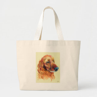 Grand Tote Bag Portrait de cocker
