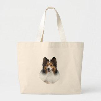 Grand Tote Bag Portrait de Sheltie