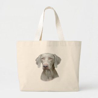 Grand Tote Bag Portrait de Weimaraner d'un chien