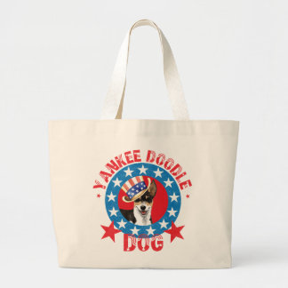 Grand Tote Bag Rat terrier patriotique