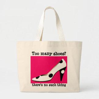 Grand Tote Bag Rose fanatique de chaussure de talon haut