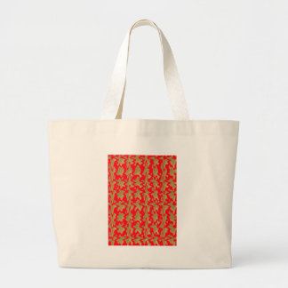 Grand Tote Bag Rouge de Goodluck et motif de Chinois d'or