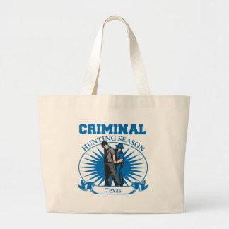 Grand Tote Bag Saison de chasse criminelle du Texas