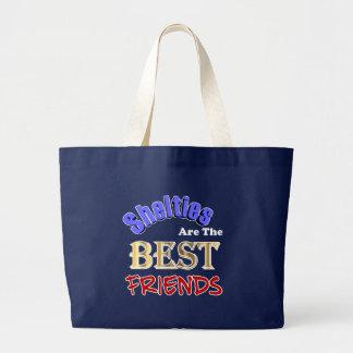 Grand Tote Bag Shelties sont les meilleurs amis