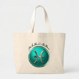 Grand Tote Bag Signe astrologique de Poissons