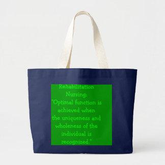 """Grand Tote Bag Soins de réadaptation : """"La fonction optimale est"""