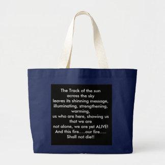 """Grand Tote Bag """"Sun dépiste"""" (""""Atoni """" dans le Choctaw) le poème"""