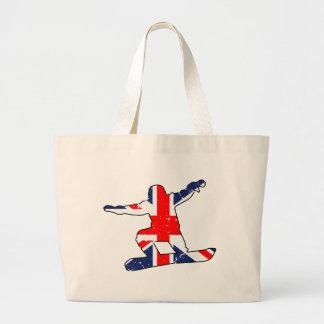 Grand Tote Bag SURFEUR d'Union Jack (noir)