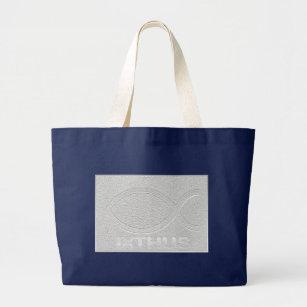 Grand Tote Bag Symbole Chrtien De Poissons DIXTHUS