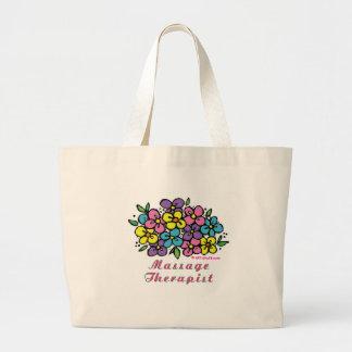 Grand Tote Bag Thérapeute des fleurs M