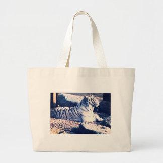 Grand Tote Bag Tigre blanc Fourre-tout
