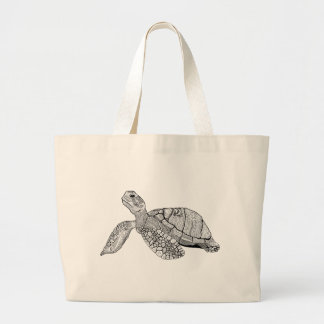 Grand Tote Bag Tortue de mer florale