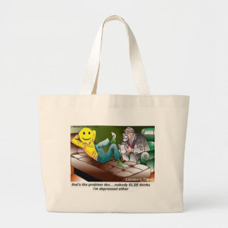 Grand Tote Bag Tout le monde en cadeaux drôles de cartes de