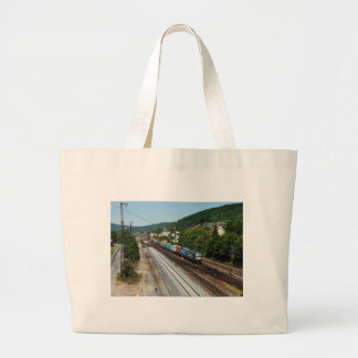 Grand Tote Bag Train de marchandises dans les Gemünden au Main