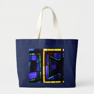 Grand Tote Bag Un collage coloré - basilique de l'annonce