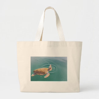 Grand Tote Bag Un grand Caretta de tortue de mer de natation